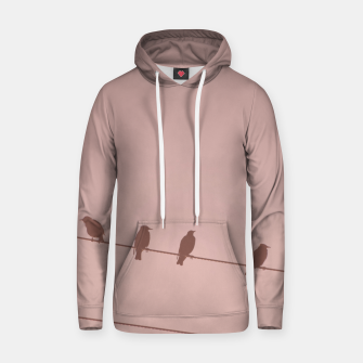 Birds on a wire Hoodie thumbnail image