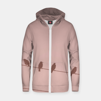 Birds on a wire Zip up hoodie thumbnail image