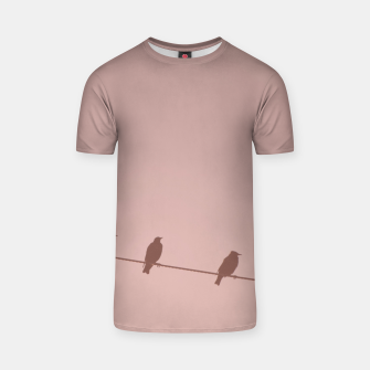 Birds on a wire T-shirt thumbnail image