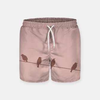 Birds on a wire Swim Shorts thumbnail image