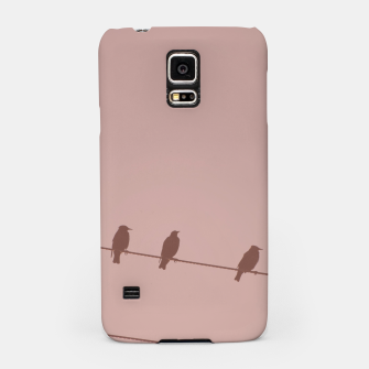 Birds on a wire Samsung Case thumbnail image