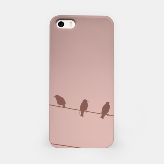 Birds on a wire iPhone Case thumbnail image