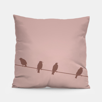 Birds on a wire Pillow thumbnail image