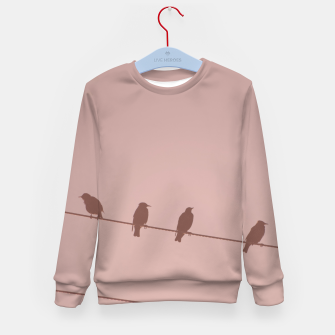Birds on a wire Kid's sweater thumbnail image