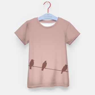Birds on a wire Kid's t-shirt thumbnail image
