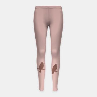 Birds on a wire Girl's leggings thumbnail image