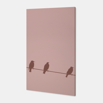Birds on a wire Canvas thumbnail image
