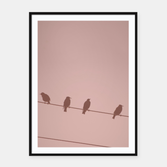Birds on a wire Framed poster thumbnail image