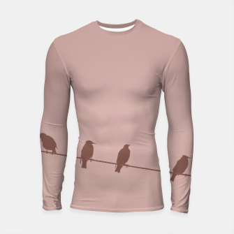 Thumbnail image of Birds on a wire Longsleeve rashguard , Live Heroes
