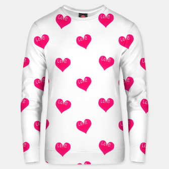 Thumbnail image of Love Concept Sketchy Drawing Print Pattern Unisex sweater, Live Heroes