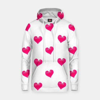 Thumbnail image of Love Concept Sketchy Drawing Print Pattern Hoodie, Live Heroes