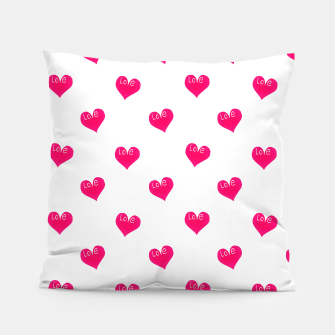 Thumbnail image of Love Concept Sketchy Drawing Print Pattern Pillow, Live Heroes