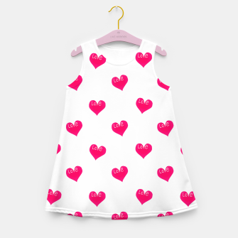 Thumbnail image of Love Concept Sketchy Drawing Print Pattern Girl's summer dress, Live Heroes