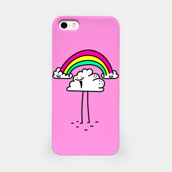 Miniatur Rainbow cloud iPhone Case, Live Heroes