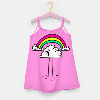 Miniatur Rainbow cloud Girl's dress, Live Heroes