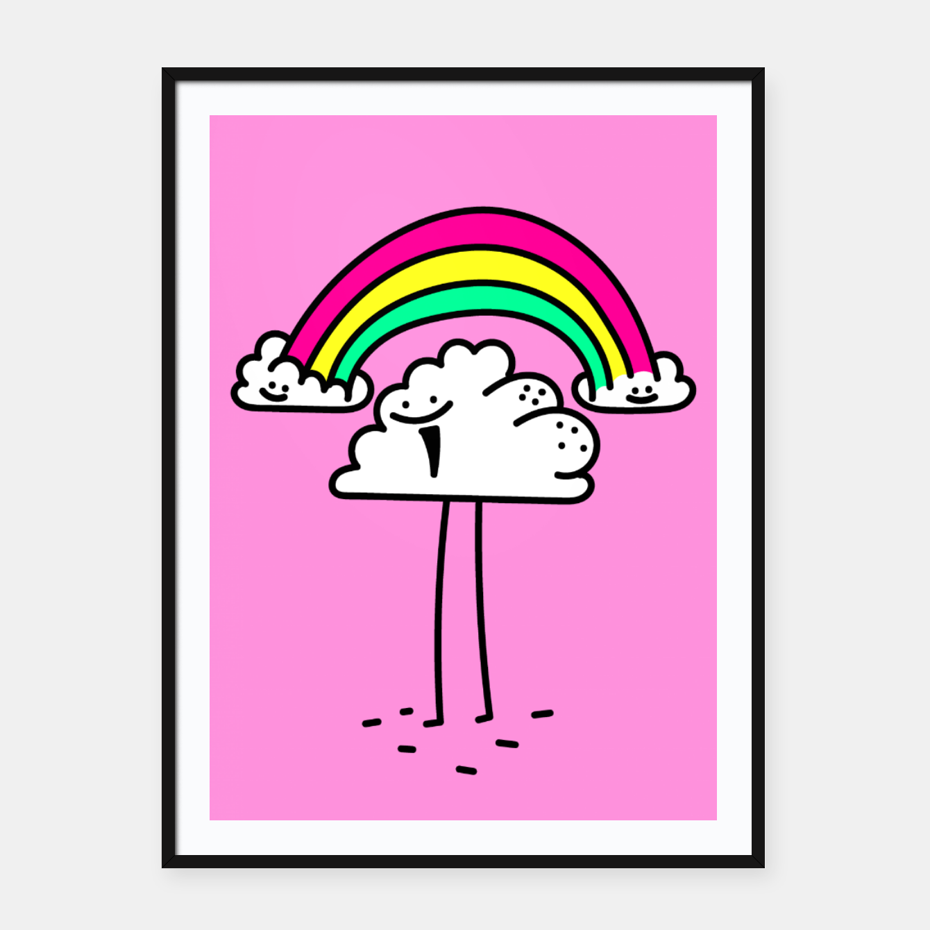 Foto Rainbow cloud Framed poster - Live Heroes