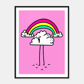 Rainbow cloud Framed poster Bild der Miniatur