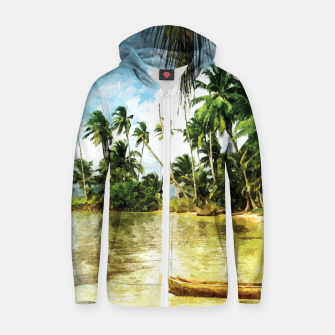 Thumbnail image of Beach for Love Zip up hoodie, Live Heroes