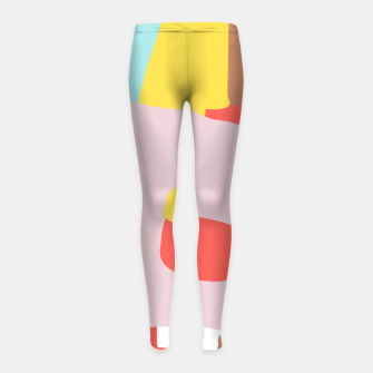 Thumbnail image of Windows of Possibility Girl's leggings, Live Heroes