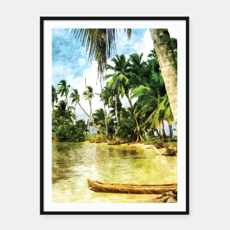 Thumbnail image of Beach for Love Framed poster, Live Heroes