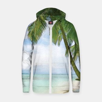 Miniatur Watercolor Beach Zip up hoodie, Live Heroes