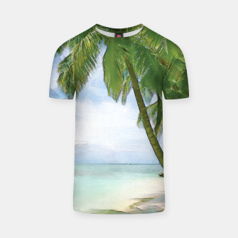Miniatur Watercolor Beach T-shirt, Live Heroes