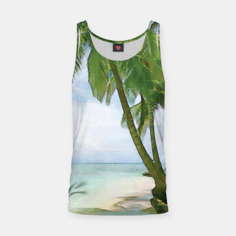 Miniatur Watercolor Beach Tank Top, Live Heroes