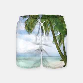 Miniatur Watercolor Beach Swim Shorts, Live Heroes