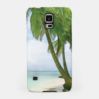 Miniatur Watercolor Beach Samsung Case, Live Heroes