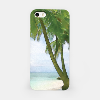 Miniatur Watercolor Beach iPhone Case, Live Heroes