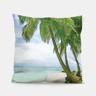 Miniatur Watercolor Beach Pillow, Live Heroes