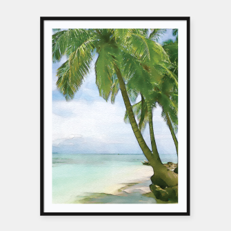Miniatur Watercolor Beach Framed poster, Live Heroes