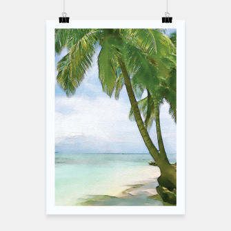 Miniatur Watercolor Beach Poster, Live Heroes