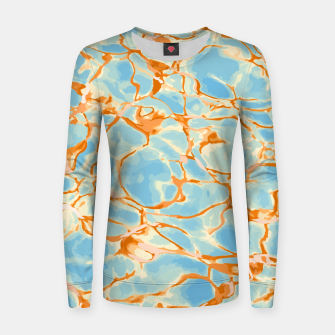 Abstract Water Women sweater obraz miniatury
