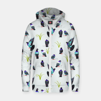 Thumbnail image of Pigeons Zip up hoodie, Live Heroes