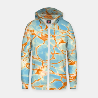 Abstract Water Zip up hoodie obraz miniatury