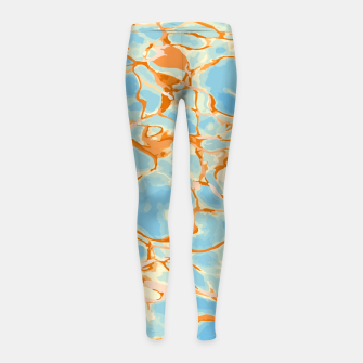 Miniatur Abstract Water Girl's leggings, Live Heroes
