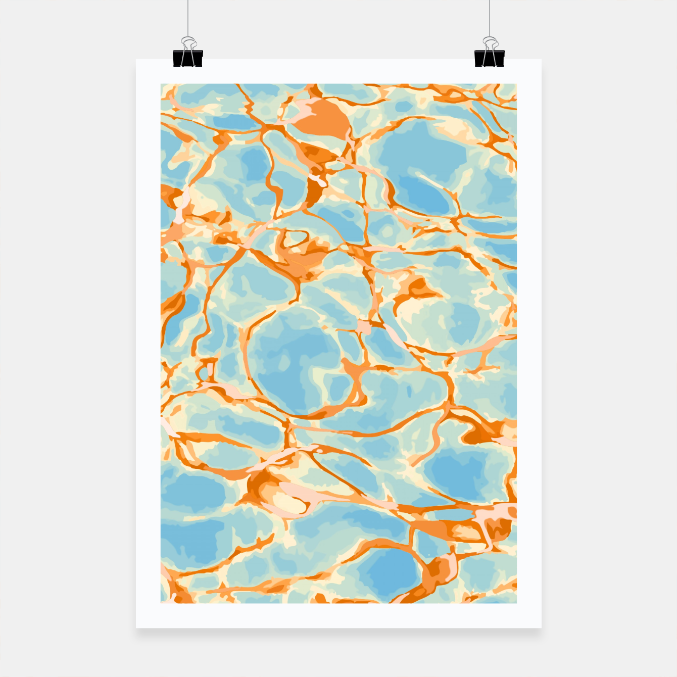 Image of Abstract Water Poster - Live Heroes