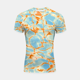 Miniatur Abstract Water Shortsleeve rashguard, Live Heroes