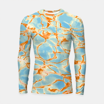 Miniatur Abstract Water Longsleeve rashguard , Live Heroes