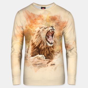 Miniatur Lion Yawning Unisex sweater, Live Heroes
