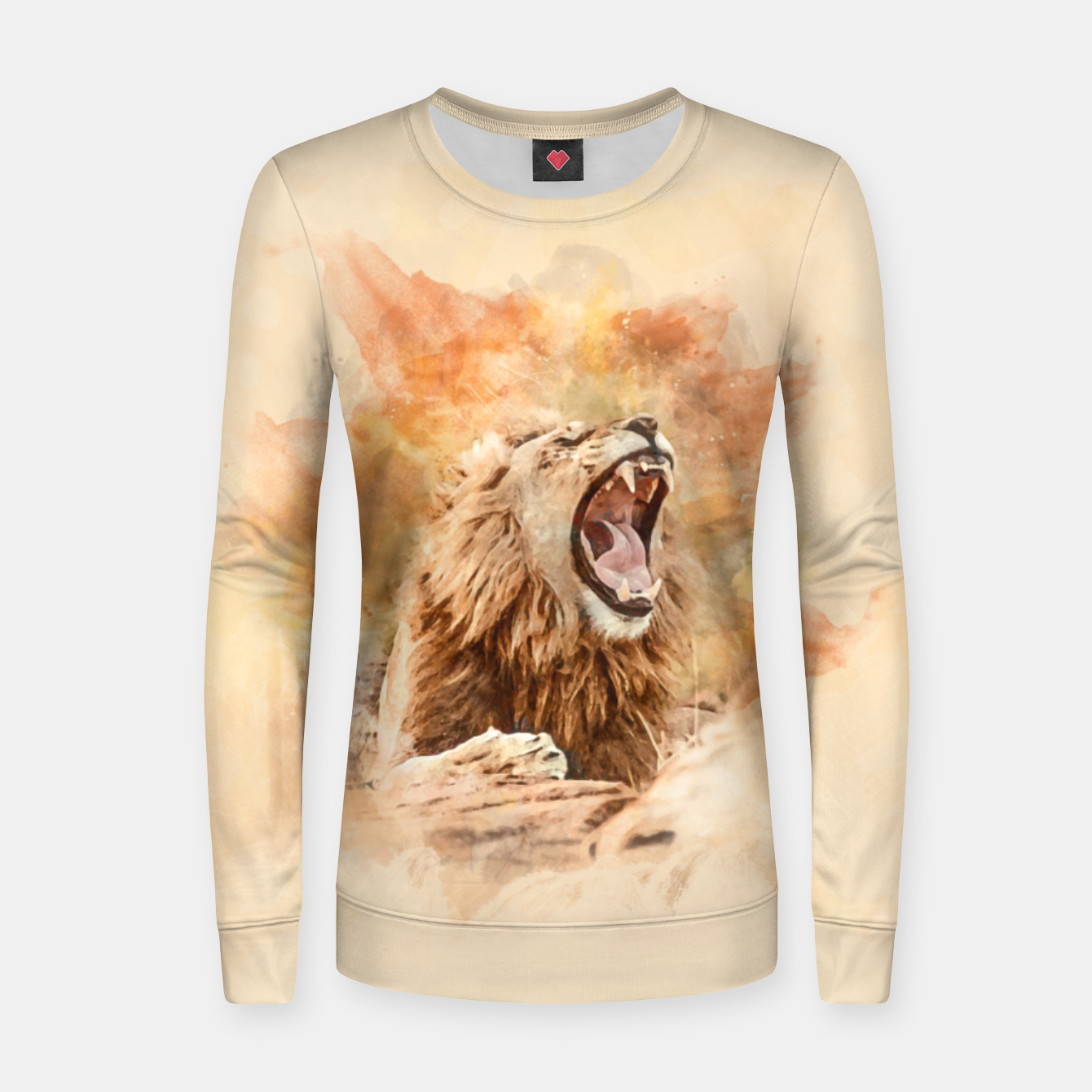 Foto Lion Yawning Women sweater - Live Heroes