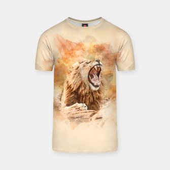 Thumbnail image of Lion Yawning T-shirt, Live Heroes