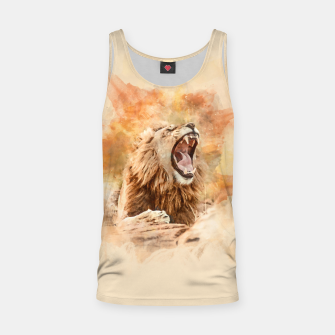 Thumbnail image of Lion Yawning Tank Top, Live Heroes
