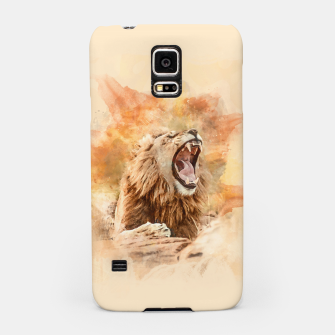 Thumbnail image of Lion Yawning Samsung Case, Live Heroes