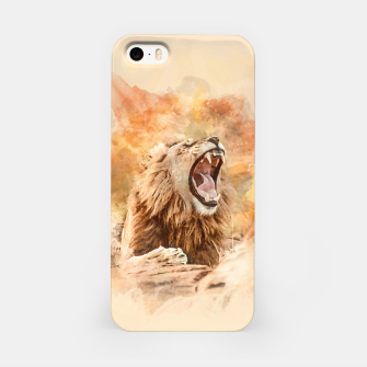 Miniatur Lion Yawning iPhone Case, Live Heroes