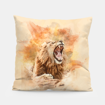 Lion Yawning Pillow obraz miniatury