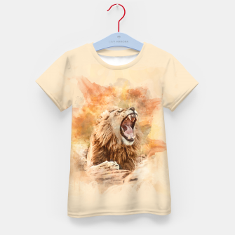 Thumbnail image of Lion Yawning Kid's t-shirt, Live Heroes