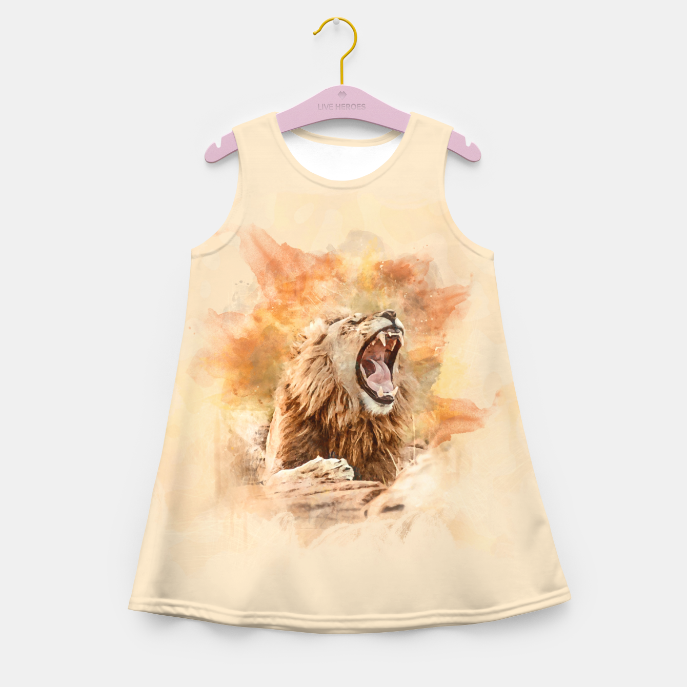 Foto Lion Yawning Girl's summer dress - Live Heroes