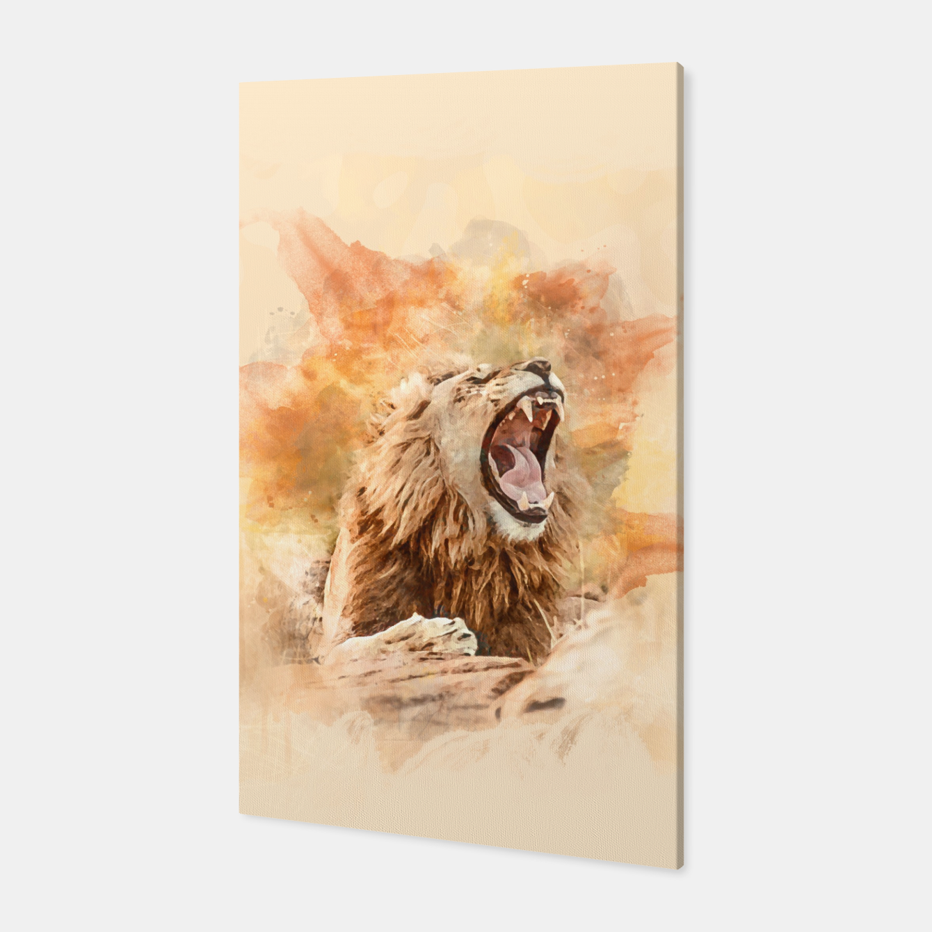 Foto Lion Yawning Canvas - Live Heroes